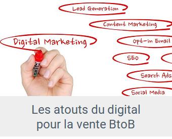 données - Lien Atouts du digital pour la vente BtoB