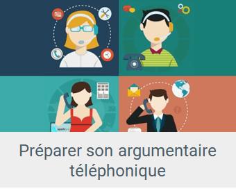 Lien Préparer un argumentaire téléphonique