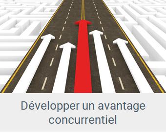différence - Lien Développer un avantage concurrentiel