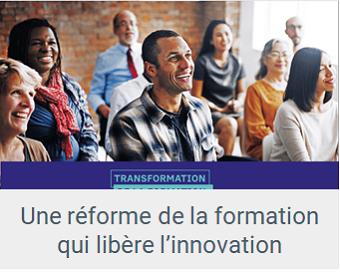 Lien Réforme de la formation qui libère l'innovation