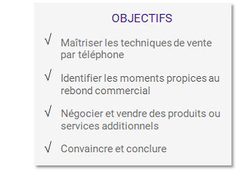 Objectifs formation Mener son action commerciale au téléphone