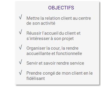 Objectifs formation Accueillir et servir le client dans la cour du négoce