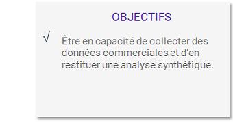 Objectifs formation Collecter et analyser les données de l'action commerciale