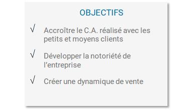 Objectifs Fidéliser ses clients et développer le CA