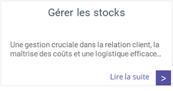 Formations - Gérer les stocks