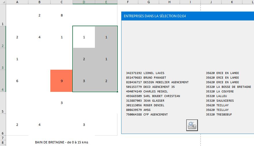 Faciliter la prospection - Effectuer une sélection directement sur la map des cibles